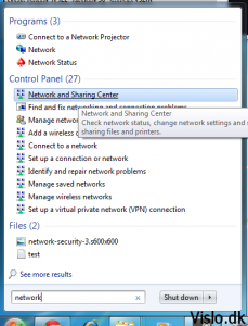 Opret forbindelse til VPN server i Windows