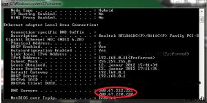 DNS server indstillinger