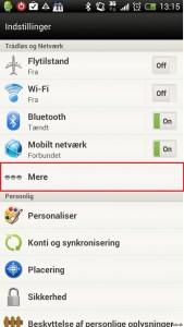 Opret forbindelse til VPN-server