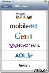 opsætning af exchange mail på iphone
