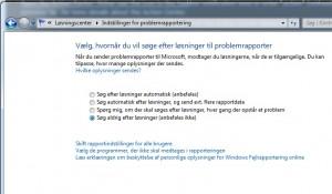 Error report i Windows 7