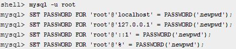 MySQL-ændre-password-root