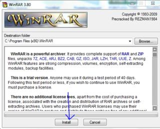 Winrar-install