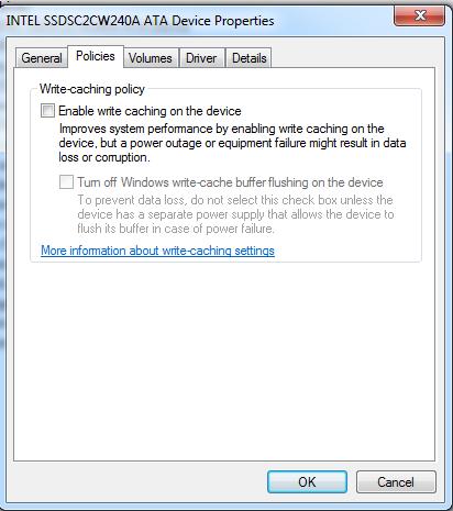 SSD-write-caching