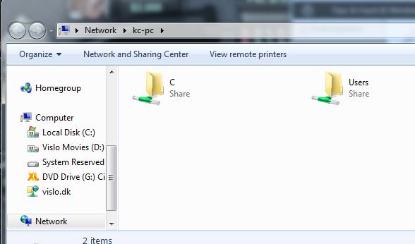 windows netværk folder