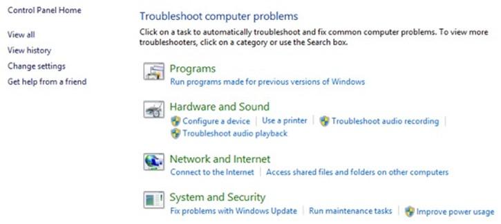 fejlsøgning windows 8.1