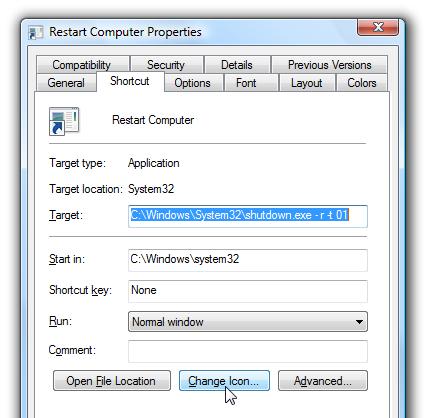 Opret Shutdown / Genstart / Lås computer genvej i Windows 7 – 8 - Vislo.dk