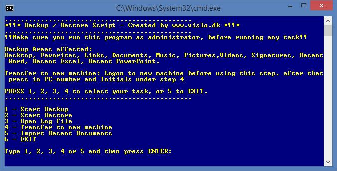 automatisk Backup