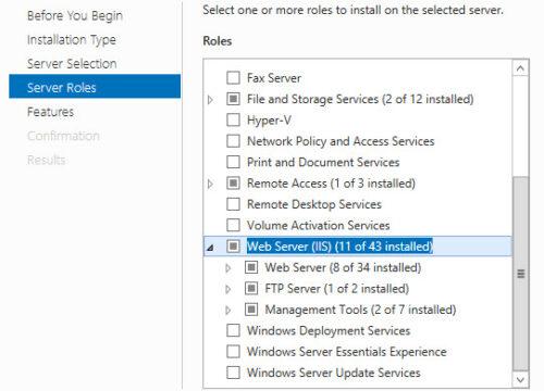 ftp server roles